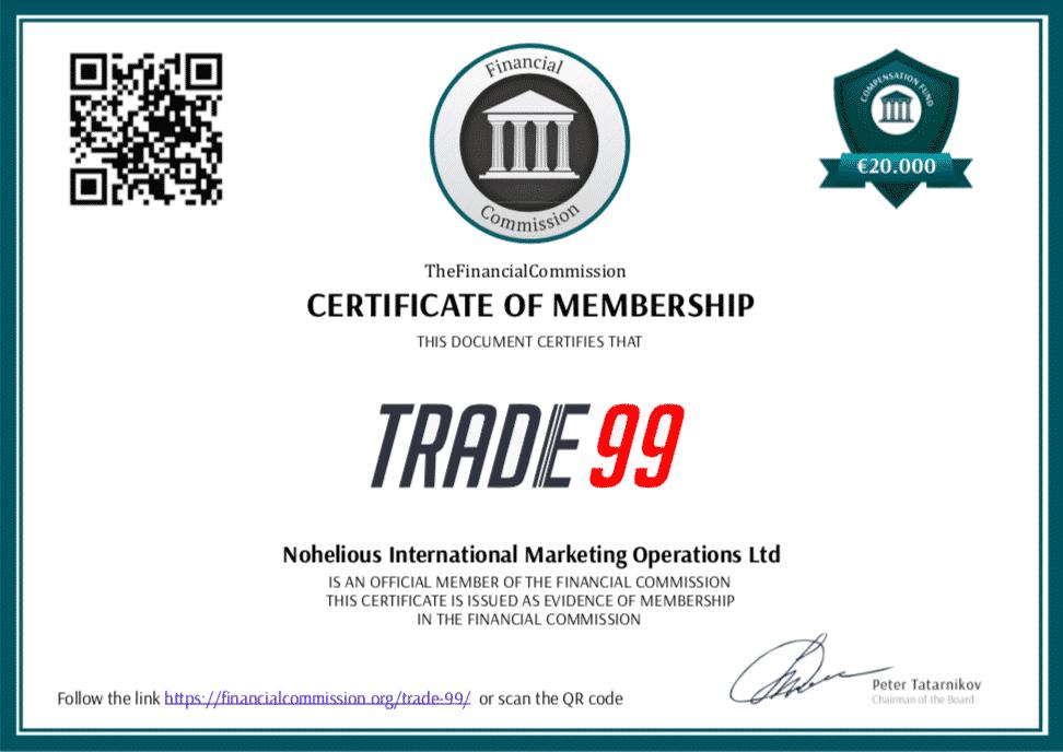 Trade99 - Certificate